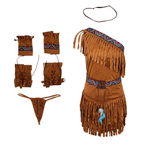 Dguisement Gland Indienne Costume MagiDeal Adulte Femme Kaki fwqAn8P