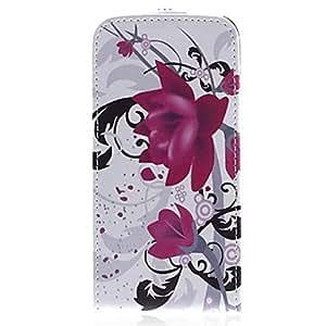 Patrón Lotus PU Leather Case Bady completa para el iPhone 5/5S