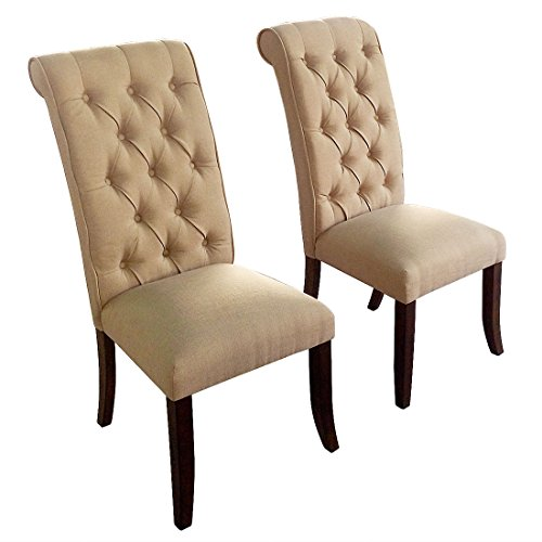 BestValue Go BestValue Go Tall Tufted Dining Chair Set of 2