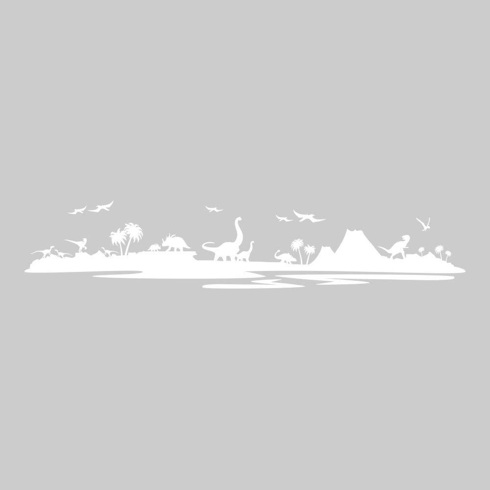 Azutura Dinosaurier-Landschaft Wandtattoo Jurassic Park Wand Sticker Kinder Schlafzimmer Haus Haus Haus Dekor verfügbar in 5 Größen und 25 Farben X-Groß Wolke Grau B00DOHDXBY Wandtattoos & Wandbilder 2251dc