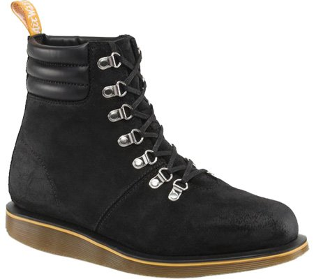 Dr. Martens - Botas Hombre - Black Burnished Bronx Suede