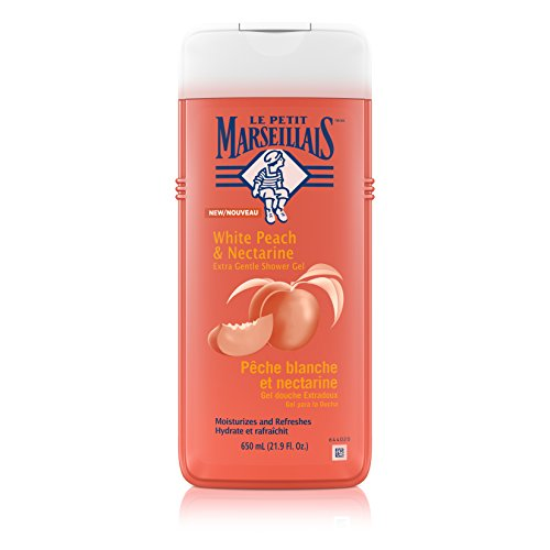 White Rose Shower Gel (Le Petit Marseillais Extra Gentle Shower Gel White Peach & Nectarine, 21.9 Ounce (Pack of 3))