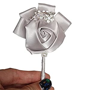 KUPARK Groom Groomsman Best Man Boutonniere Wedding Flowers Brooch Party Prom Suit Decoration 94