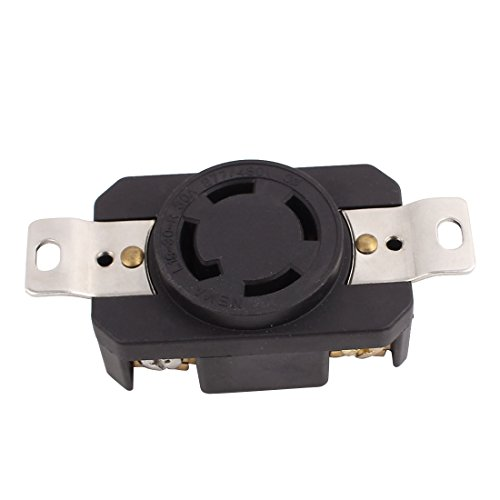 uxcell 277V/480V 30A 4 US Socket 3 Phase Power Locking Device Receptacle Generator Outlet ()
