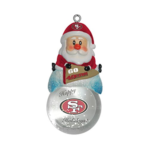 NFL San Francisco 49ers Snow Globe Ornament