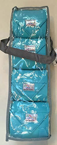 PRI Horse Leg Protection Set of Four Fleece Polo Wraps, Turquoise, Horse Size by PRI Horse Leg Protection