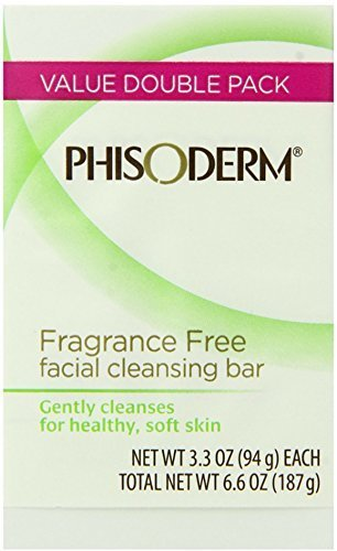 (pHisoderm Facial Skin Cleansing Bar, Fragrance Free, Value Double Pack (Pack)