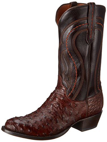 Lucchese Classics Men's Montana-sien F.q. Ost Dkbn Derby Calf Riding Boot, Sienna, 9 D US (Fq Ostrich)