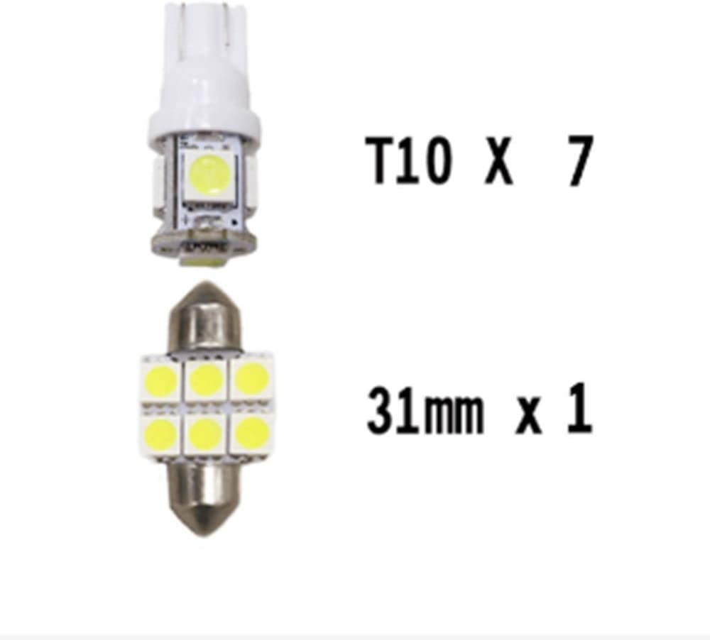 Pour Rav4 2007-2018 LED Lampe Ampoules Blanc Wedge Int/érieur De Voiture Lumi/ère D/ôme Feux De Plaque Dimmatriculation Canbus Anti Erreur 12V Pas De Polarit/é Con/çu 6 Pi/èce