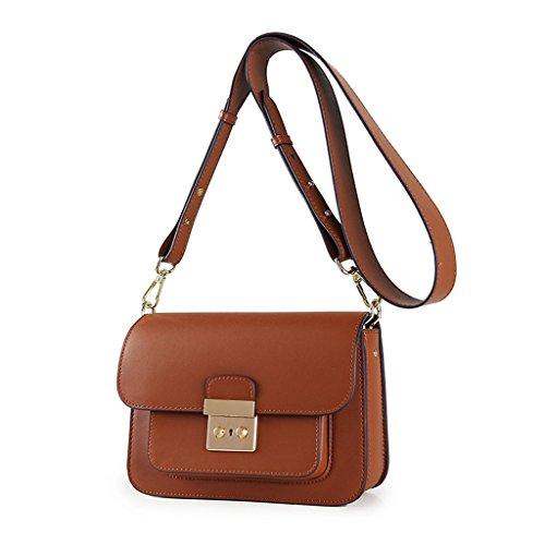 bag à Sac lock femmes épaule Caramel rétro carré flip unique Sac Messenger Lxf20 sac petit féminin bandoulière UqAcv