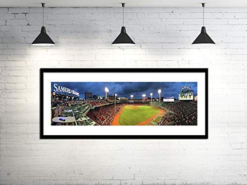 Fenway Park Panoramic- Red Sox Canvas Wall Art - Boston Red Sox Wall Decor - Choose Print or Canvas