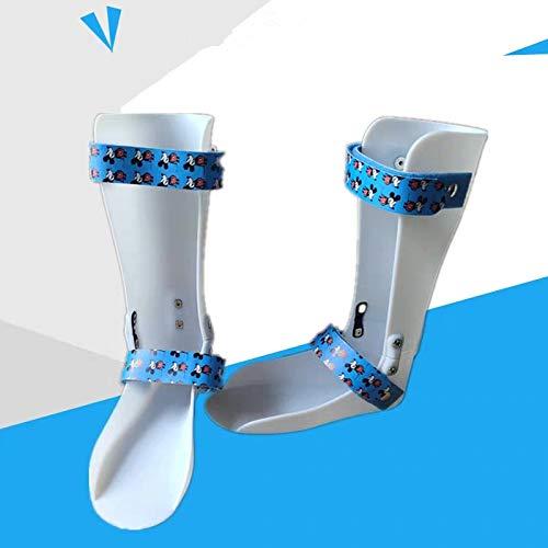 Kids AFO Drop Foot Splint Toddler Custom Othopedic Ankle Foot Brace Night Splint Support for Children (M-Right: 6.5IN)