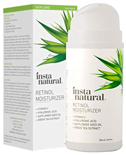41E0mTylO9L - InstaNatural Retinol Moisturizer Anti Aging Night Face Cream - Face & Neck Wrinkle Lotion - Reduce Appearance of Wrinkles, Dark Circles, Fine Lines & Acne - Vitamin C Hyaluronic Acid Complex - 3.4 oz