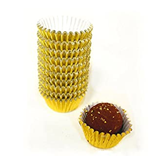 Gold Paper Chocolate Candy Cups - 1''x 3/4'' - 200pcs