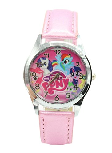 New Horizons Production MLP Pony Pink Genuine Leather Band Wrist Watch