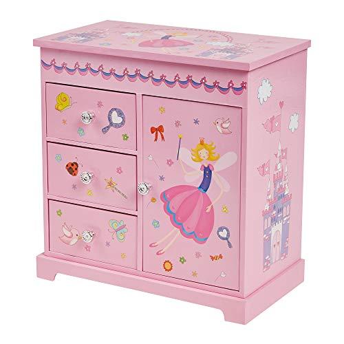 Mele & Co. Krista Girl's Musical Ballerina Upright Jewelry Box (Castles/Fairy Princess)