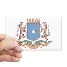 CafePress - Somalia Coat Of Arms Rectangle Sticker - Rectangle Bumper Sticker Car Decal