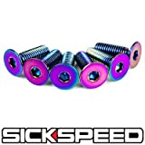 Neo Chrome Steering Wheel Screw 6Pc Bolt Kit For Nardi/Sparco/Omp/Momo P1 for Ford Mustang