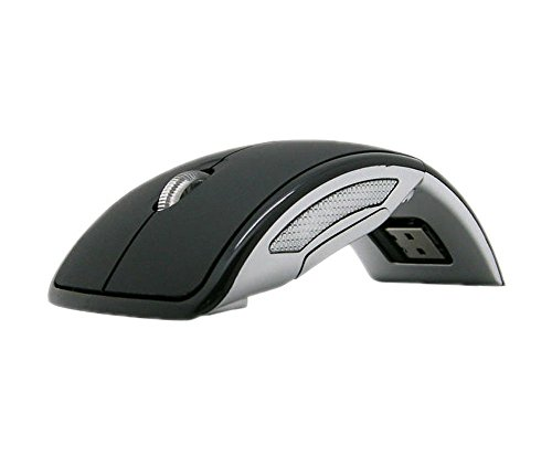 JetTech Wireless Folding Mouse Black