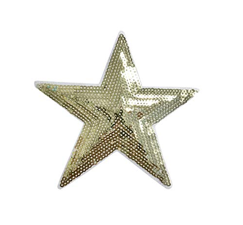 Sequin Gold Star - Large 4-3/4