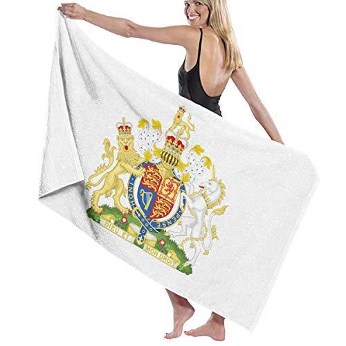 お香確認してください刃ビーチバスタオル バスタオル イギリスの国旗の紋章 ビーチタオル 海水浴 旅行用タオル 多用途 おしゃれ White