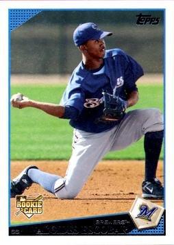 2009 Topps Baseball 108 Alcides Escobar Rookie Card