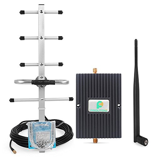 850MHz 3G GSM CDMA Cell Phone Signal Repeater Amplifier Kit with Indoor Whip Antenna and Yagi Antenna for Home/Office Use (Black)