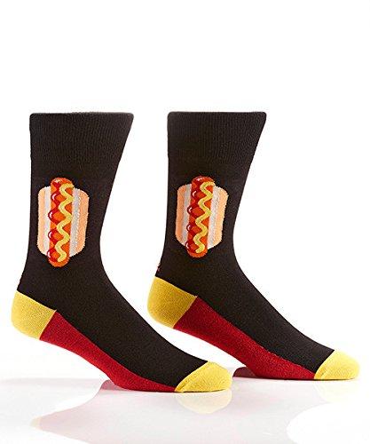 Yo Sox Hot Dog Funky Men's Crew Socks for Dress or Casual Wear Size 7-12]()