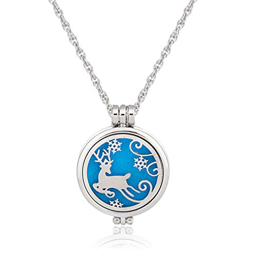 Myhouse Silver Color Women Girls Animal Pattern Openwork Necklace Aromatherapy Sweater Chains Charm Accessories, Style 4