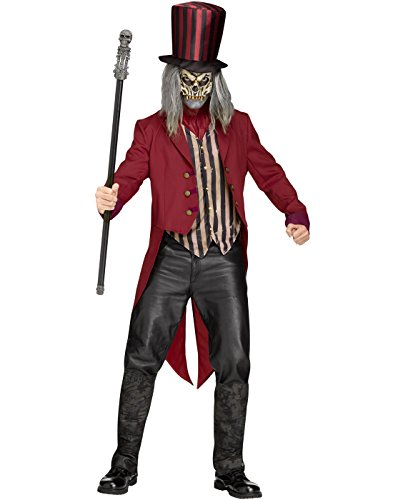 Freak Show Costumes For Halloween (Freak Show Ringmaster Costume - Standard - Chest Size 33-45)