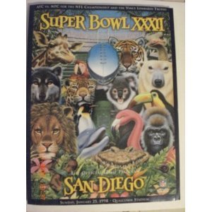 Used, Super Bowl XXXII Official Game Program-Sunday, January for sale  Delivered anywhere in USA