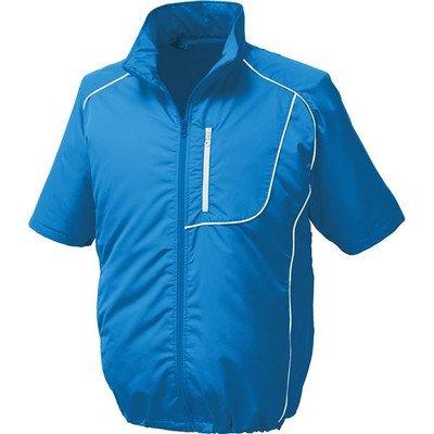 ポリエステル製半袖空調服 BP500S リチウムバッテリーセット 〔カラー:ブルー×ホワイト サイズ:L〕[通販用梱包品] B07DGWMVLK
