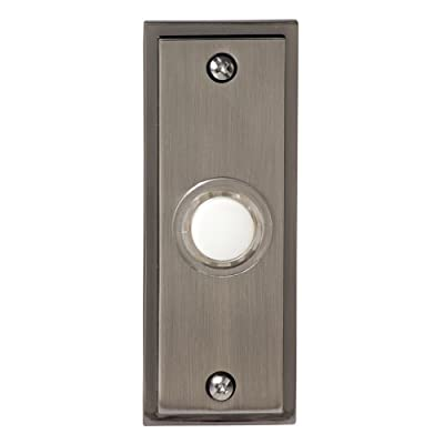 Honeywell RPW202A1009/A Wired Recessed Illuminated Push Button Door Chime, Brushed Nickel Finish