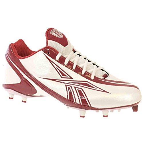 Zapatillas De Fútbol Reebok Nfl Burner Speed Low M3 Para Hombre Blanco Rojo 11.5 M