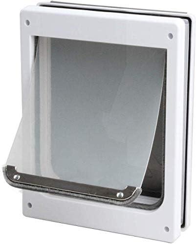 Pet Flap Door for Dogs 2 Ways Locking Pet Flap Door Wall Entry Pet Door with Transparent Flap Small Midium Large