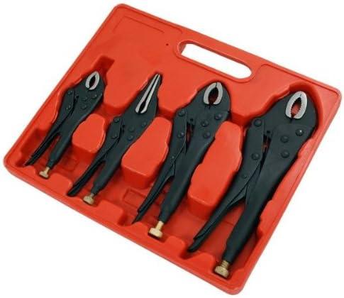 Grip Lock Alicates Set 4 Piezas Negro Fosfato Finalizar 2 Paquete / S: Amazon.es: Bricolaje y herramientas