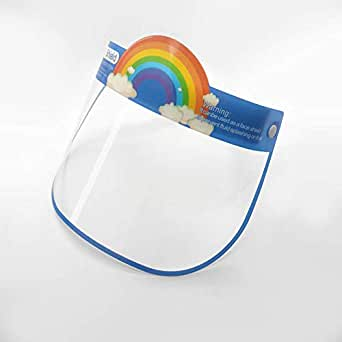 TALABETY Kids Face Shield Protective Clear and Anti Fog Anti Spitting Mask cover (Blue)