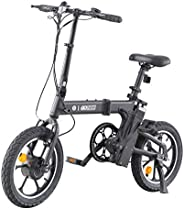 "GOTRAX Shift S1 Foldable Electric Bike, 16"" Fat Wheels, 36V 7.8Ah Removable Lithium Battery, 250W Motor u"