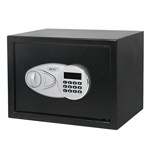 ZENY Electronic Security Safe Box Digital Lock Wall Mounted Jewelry Cash Gun Box,Wall Safe Hidden Security Safe - 0.5-Cubic Feet