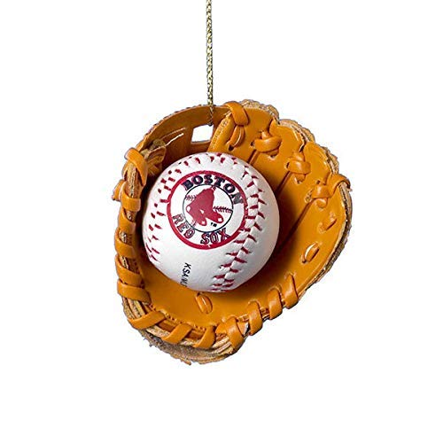 Kurt Adler Red Sox Baseball in Glove Christmas Ornament