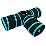 Aipet Cat Play Tunnel, Collapsible 3 Way Cat Tube Toy, Pet Play Tunnel Toy for Rabbits, Kittens, Dogs