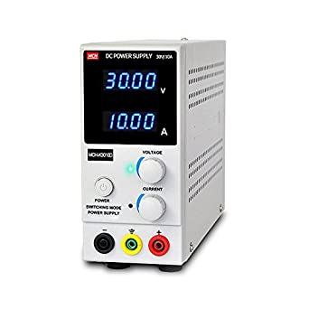 Amazon | 直流 安定化電源 30V 10A 4桁電圧・電流表示 可変 直流電源 ...