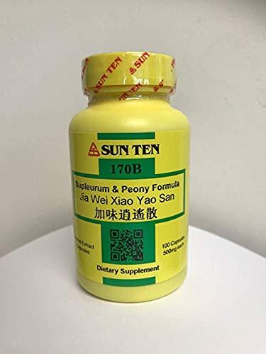 Sun Ten-Bupleurum & Peony Formula, 100 Capsules, 170B Jia Wei Xiao Yao San
