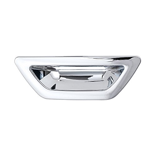 Grill Door Handle (Chrome Rear Trunk Door Handle Bowl Insert Cover Trim for Nissan X-Trail Rogue 2014 2015 2016)