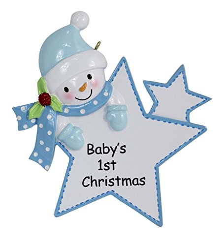Baby's 1st Christmas Ornament Baby Boy Personalized Gift(Blue)