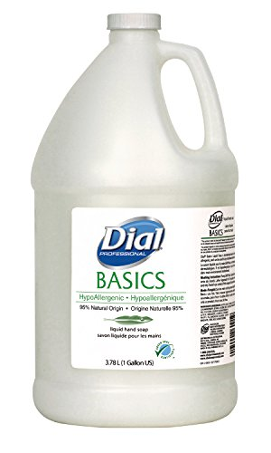 Dial 1325980 Basics Honeysuckle Floral White Pearl Hypoallergenic Liquid Hand Soap, 1 Gallon Bottle (Pack of 4)