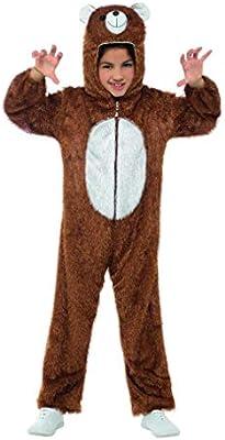 Halloween enia – Disfraz de Oso de Peluche para niña, Mono de una ...