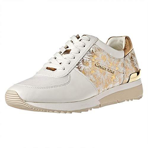 Floral Trainers - Michael Michael Kors Women's Allie Trainer (9.5 B (M) US, Optic White/Gold Floral)