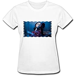 Women's DA Selena Gomez Revival Tour 2015 Fan Logo Short Sleeve T-Shirt