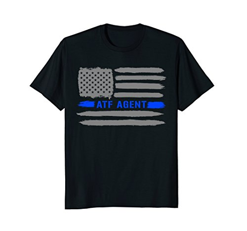 Police ATF AGENT American Flag Support Thin Blue Line Shirt ()